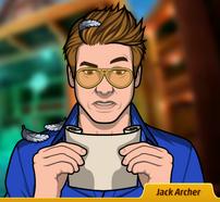 Jack leeyendo un mensaje