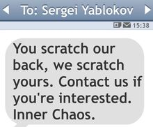 Msj de los Inner Chaos a Sergei