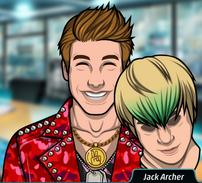 Jack disfrazado de ídolo del pop