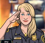 Amy Selamlarken