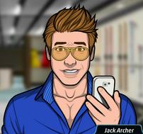 Jack sosteniendo un teléfono 4