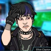 Elliot sudando