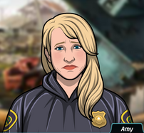 59 Amy Vestida con un impermeable de policía