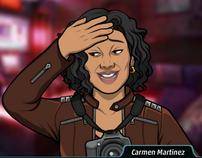 Carmen con dolor de cabeza