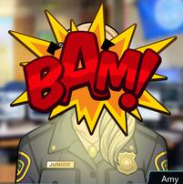 La Amy-bot extallando.