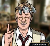 Charles indicando
