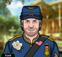 Frank Con un traje de soldado