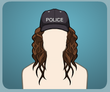Police Cap Curly