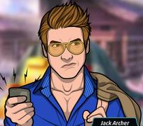 Jack con una grabadora
