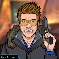 Jack con su pistola con rabia