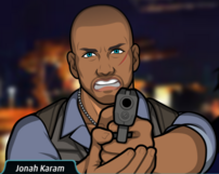 Jonah sacando su pistola 1
