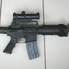 An AR-15 assault rifle.
