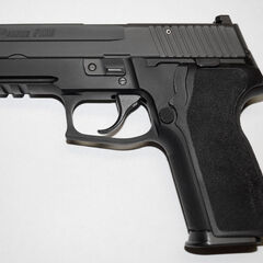 P229R DAK (Double-Action Kellermann) - Note the recessed hammer and lack of a de-cocker present on the standard P229R.