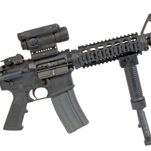 A classic M4 with a bipod.