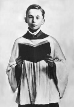 Haigh as choirboy