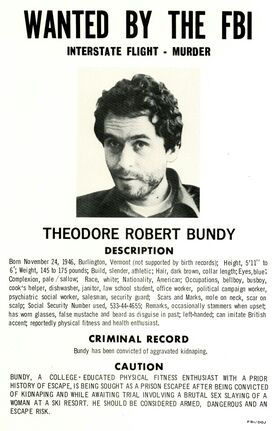 Bundy Wanted Poster