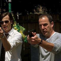 Reid with his Glock 17 in