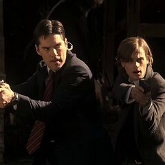 Hotch and Reid with their Glock 17s.