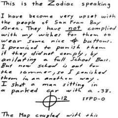 Another letter detailing the Zodiac's need for attention