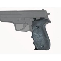 Hogue Model 26000 molded rubber grips with finger grooves (the kind used on Morgan's P226)