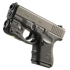 A Glock 26 with a light attachment.