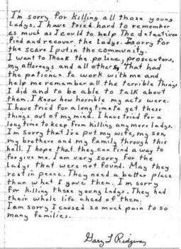 Ridgway Statement