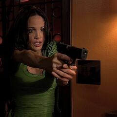 Tina Lopez with her Glock 19 in