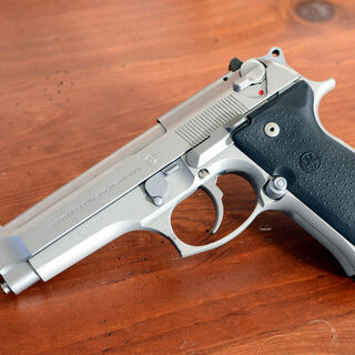Another Beretta 92FS Inox Model, with an extended barrel.