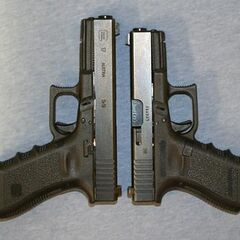 A Glock 17 and Glock 19 together.