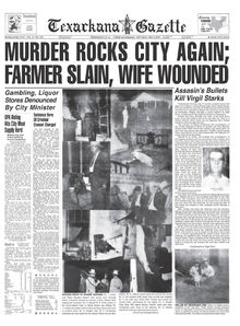 Texarkana Gazette front page reporting the Starks murder