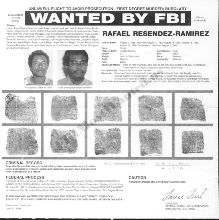 Resendizu0027s FBI Wanted Poster  Criminal Wanted Poster