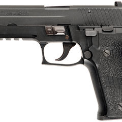 Standard production version of the P226R (note the rail to allow for tactical attachments)