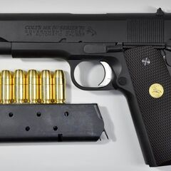 An M1911 with a 7-round magazine.