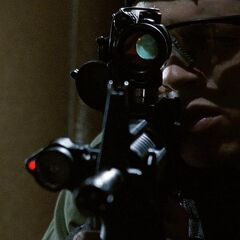 An M4A1's modified scope.