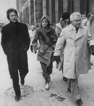 Christopher Walken, Susan Sarandon and Norman Mailer take on a lunch break during Abbott's trial