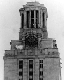 UT Tower during the rampage