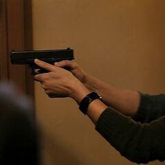 Prentiss' Glock 19 in