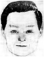 A sketch depicting an unknown man reportedly seen at Lake Berryessa, on the day of the Shepard-Hartnell attack