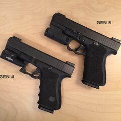 4th and 5th Generation Glock 19s with light attachments.