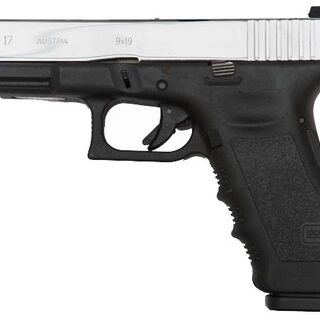 3rd Generation Glock 17 with stainless-steel slide