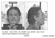 Abbott's prison mugshot