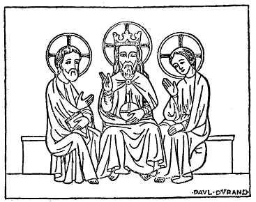 Treenigheten, fransk miniatyr från 1300-talet