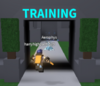 The entrance to the training area. 2 players are already in it.
