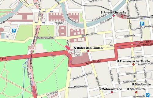 Map Brandenburger Tor