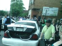 Chicago june 27 2008 critical mass arrest in Bridgeport