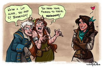 Episode-63-Percy-and-Keyleth-cheer-up-Vex-by-Wendy-Sullivan-Green