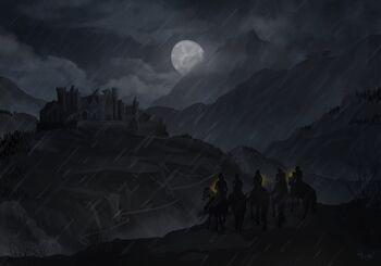 Loreleis approaching the castle - Heather Hood