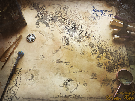 The Menagerie Coast Map by Deven Rue 900x