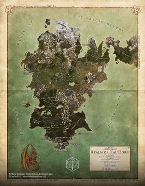 Map of Tal'Dorei Campaign Setting