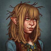 Twiggy Portrait by Ari
